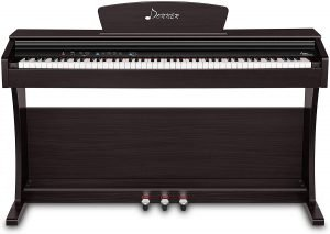 Donner DDP-300 Digital Piano 88 Key Weighted Keyboard for Beginner and Professional